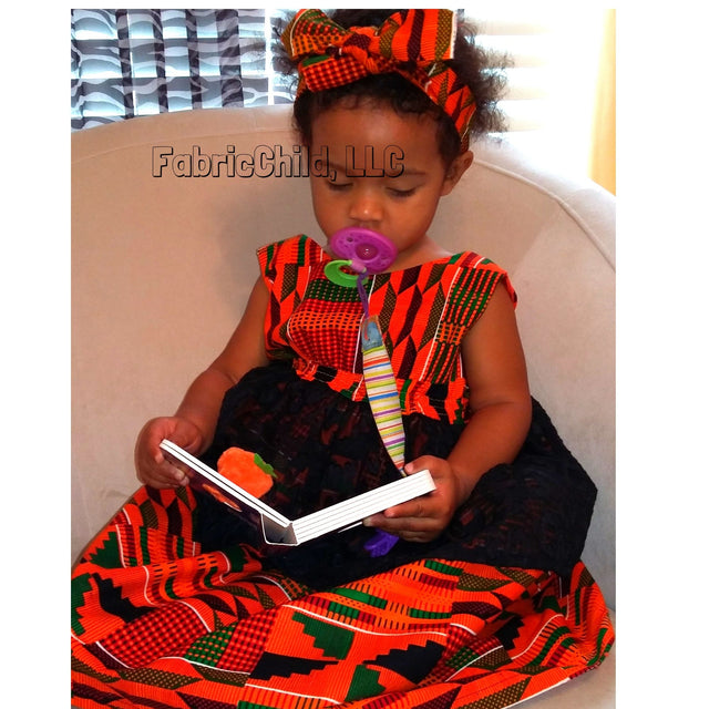 Kente Girl's dress | Fabric Child, LLC