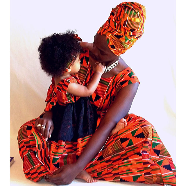 Mother and daughter Kente dress | Fabric Child, LLC