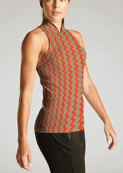 AWF-7464W-A ZIGZAG DESIGN ACTIVEWEAR KNIT. FRANCE