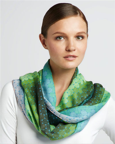 "DS-1006 ""FIREBIRD"" - JONATHAN SAUNDERS DIGITAL PRINT CASHMERE MODAL SCARF. MADE IN ITALY"