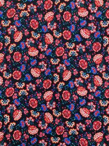 S-7439W FLAMENCO FLORAL SILK VISCOSE TWILL.