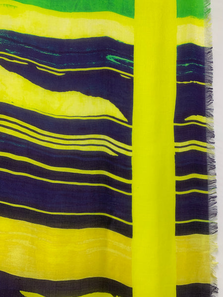 "AW-1030 ""ACID"" - BRITISH DESIGNER DIGITAL PRINT CASHMERE MODAL SCARF. MADE IN ITALY"