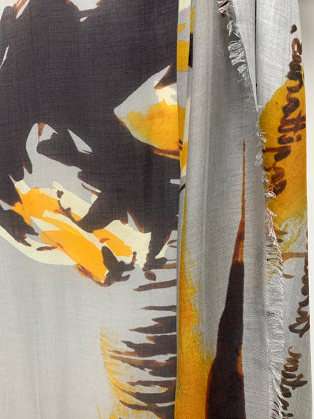 "AW-1036 ""LEO"" - BRITISH DESIGNER DIGITAL PRINT CASHMERE MODAL SCARF. MADE IN ITALY"