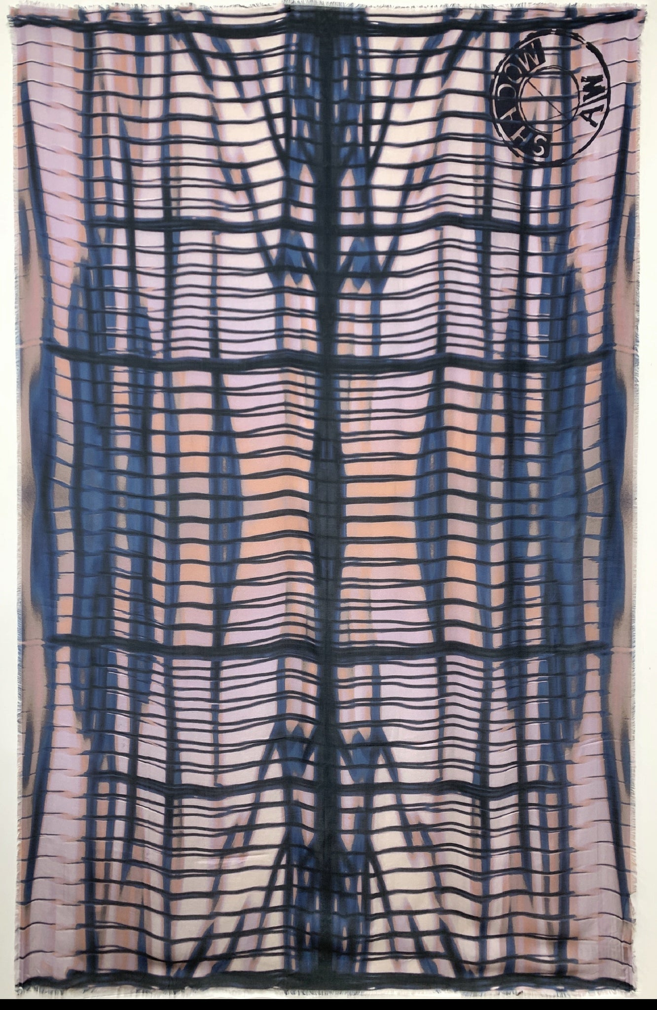 "AW-1032 ""SHADOW"" - BRITISH DESIGNER DIGITAL PRINT CASHMERE MODAL SCARF. MADE IN ITALY"