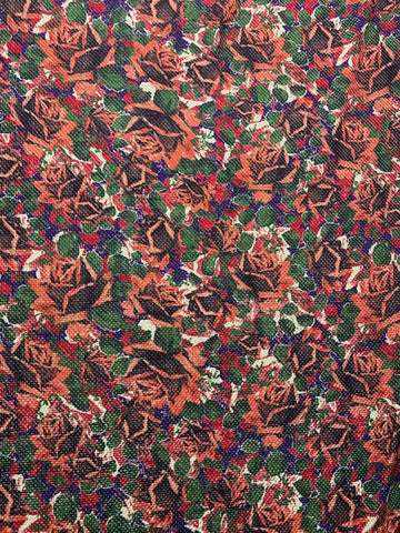 WC-7426W-B REVERSIBLE DIGITAL FLORAL PRINT WOOL COATING. ITALY