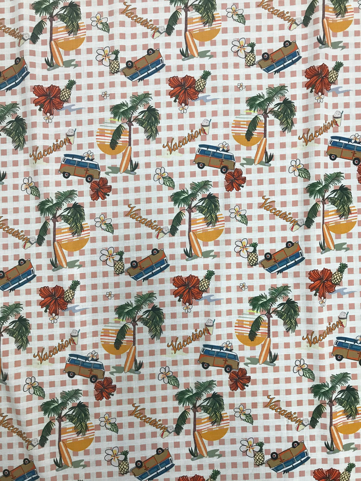 RV-7349W DIGITAL VACATION PRINT VISCOSE CHALLIS. ITALY