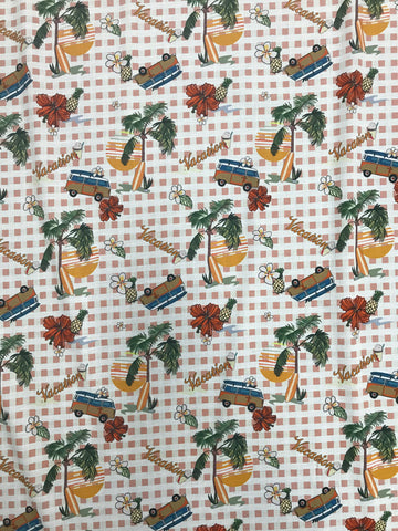 RV-7349W DIGITAL VACATION PRINT VISCOSE VOILE. ITALY