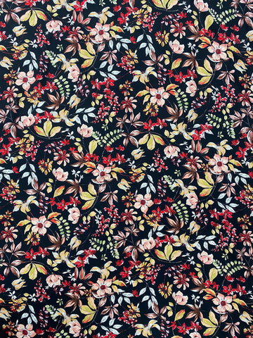 RV-7442W AUTUMN FLORAL VISCOSE TWILL. ITALY