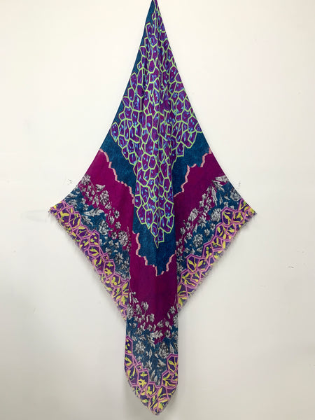 "DS-2012 ""FOGO"" - PETER PILOTTO DIGITAL PRINT CASHMERE MODAL SCARF. MADE IN ITALY"