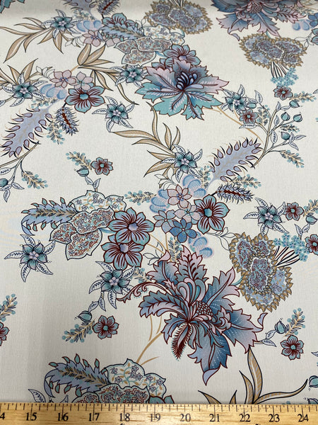 25516 Digital Print Fine Silk Crepe de Chine - Made in Italy