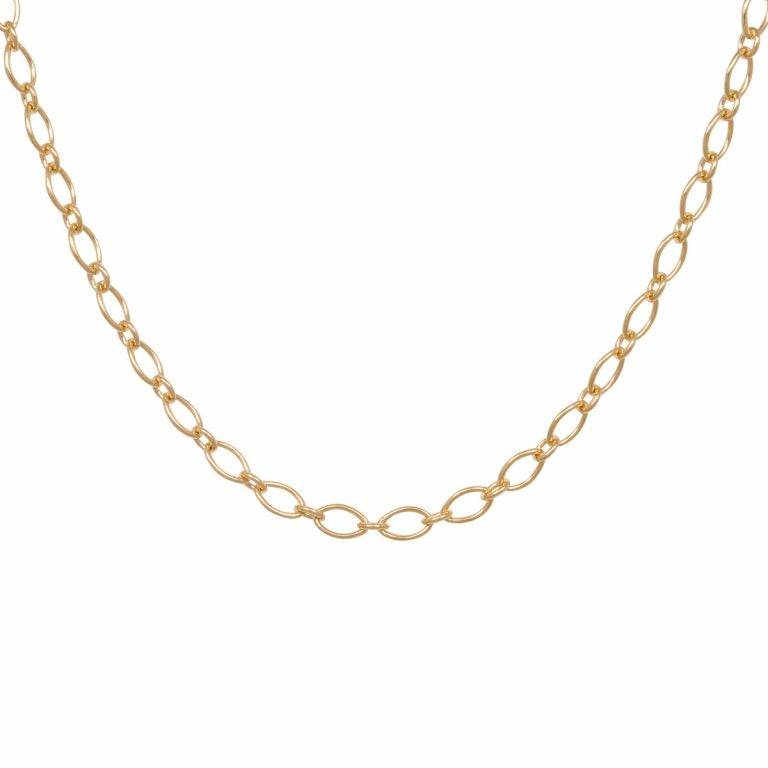 Eline Rosina Statement Marquise Necklace in Gold