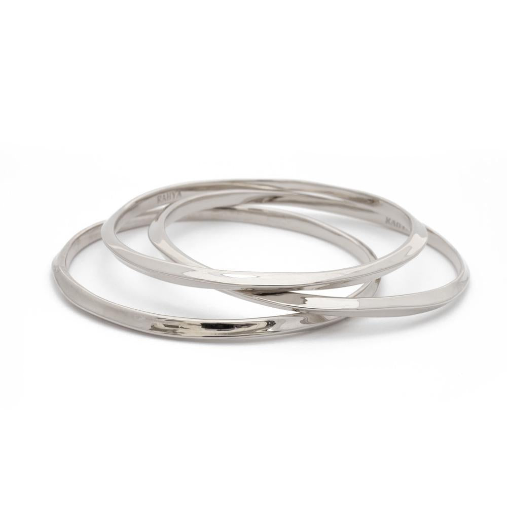 Rahy Jewelry Design Tide Bangle Set in Silver