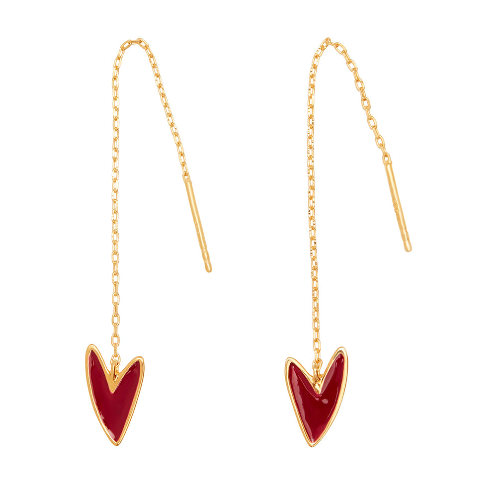Tada & Toy Make-Up 'Needle & Thread' Earrings in Gold