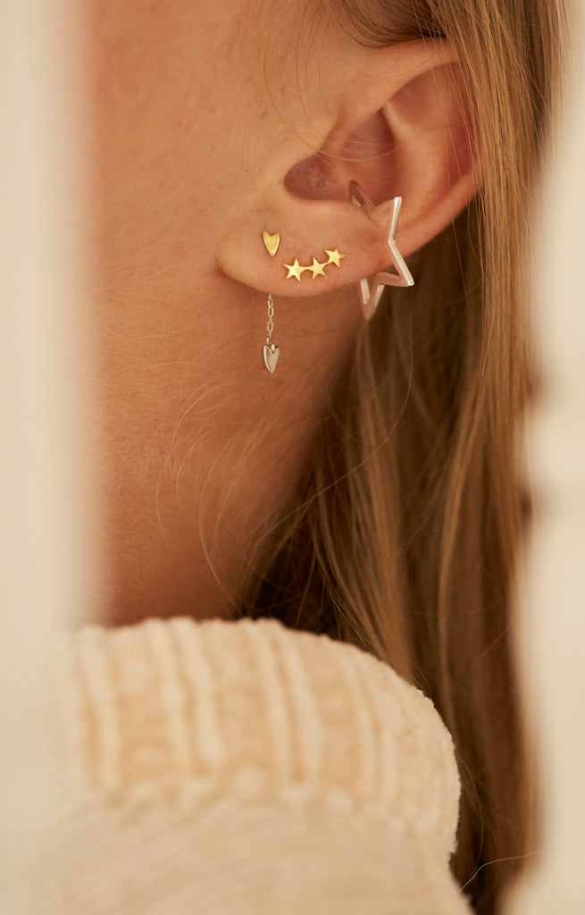 Tada & Toy Shooting Star Studs in Gold