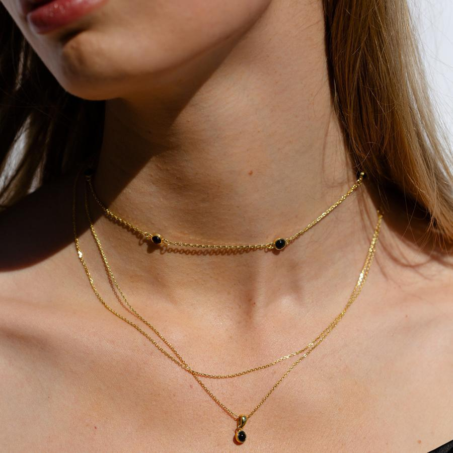F + H Jewellery Izzy Double Chain Necklace in Gold