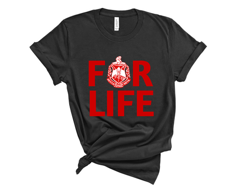 For Life Crest T-Shirt