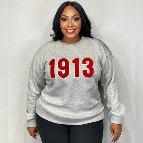 1913 Chenille Embroidered Sweatshirt (FINAL SALE!)