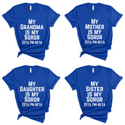 (8 options) Zeta Royal Blue Legacy Soror T-Shirts