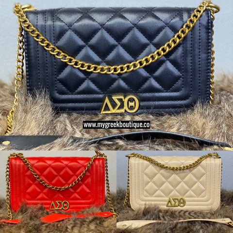 ΔΣΘ Chain Shoulder Bag/Crossbody Purse (FINAL SALE!)