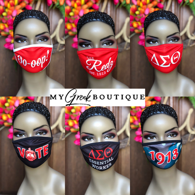 Sublimated Filtered Face Masks