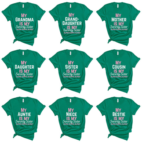 (9 options) AKA Sorority Sister T-Shirts