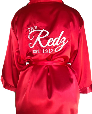 The Redz Embroidered Satin Robe