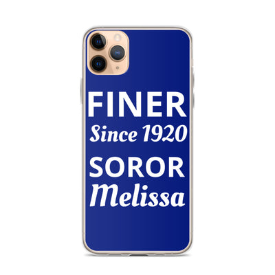 Personalized Name Finer iPhone Case