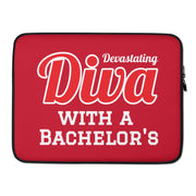 Diva with a Bachelor's Laptop Sleeve