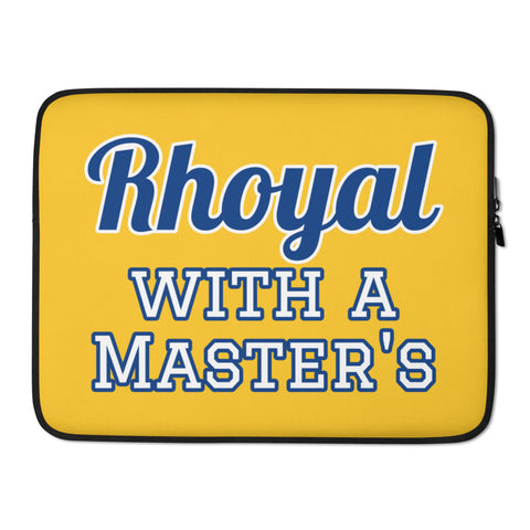 Rhoyal with a Master's Laptop Sleeve