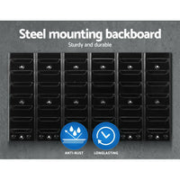 24 Bin Wall Mounted Rack Storage