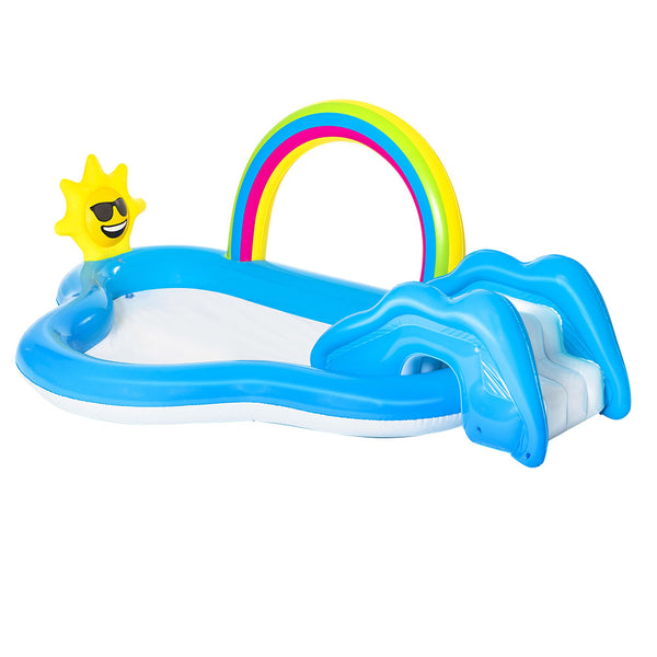 Bestway Swimming Pool Rainbow Slide Play Above Ground Kids Inflatable Pools