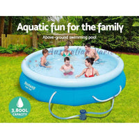 Bestway Above Ground Swimming Pool 305x76cm Fast Set Pool Family Filter Pump | Australian Variety Store