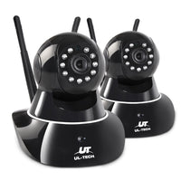 UL Tech Set of 2 1080P Wireless IP Cameras - Black | Australian Variety Store