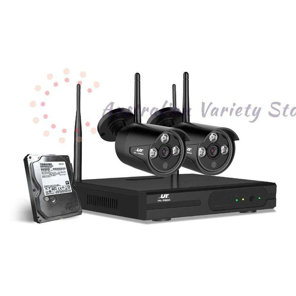 UL-Tech CCTV Wireless Security System 2TB 4CH NVR 1080P 2 Camera Sets | Australian Variety Store