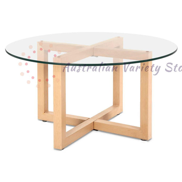 Tempered Glass Round Coffee Table