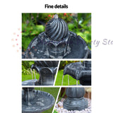 Gardeon 3 Tier Solar Powered Water Fountain - Black