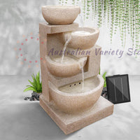 Gardeon 4 Tier Solar Powered Water Fountain with Light