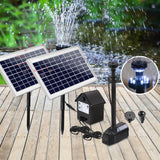 Gardeon 110W LED Lights Solar Fountain with Battery