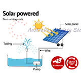Gardeon 25W Solar Powered Water Pond Pump Outdoor Submersible Fountains