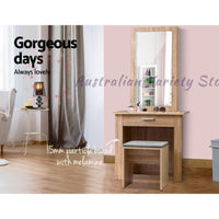 Artiss Dressing Table Mirror Stool
