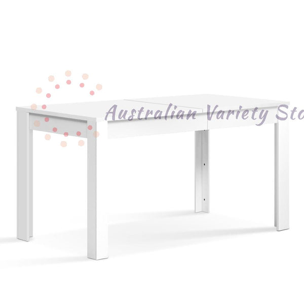 Artiss Dining Table 4 Seater Wooden, White 120cm