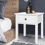 Bedside Tables Drawer Side Table Nightstand White