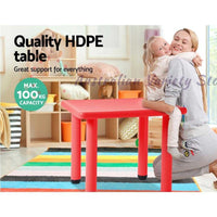 Kids Table Study Desk Red