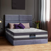 Giselle Bedding King Mattress Bed Size 7 Zone Pocket Spring Medium Firm Foam 30cm