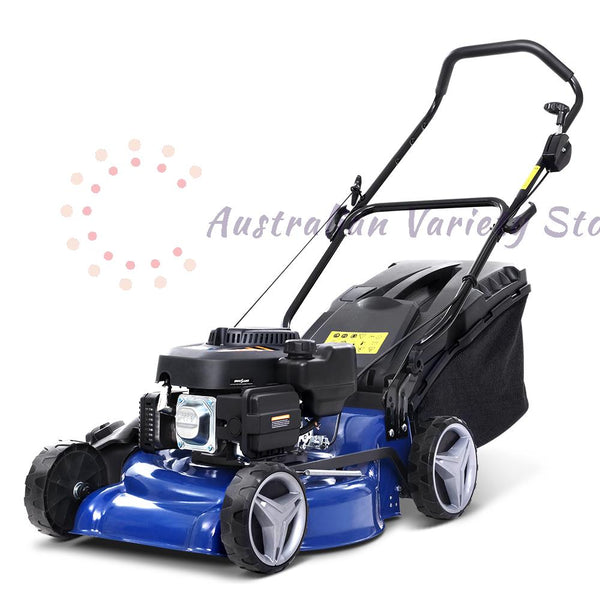 "Lawn Mower 19"" 175cc Petrol Powered Push Lawnmower 4 Stroke 4-IN-1"