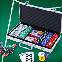 Poker Chip Set 300PC Chips TEXAS HOLD'EM