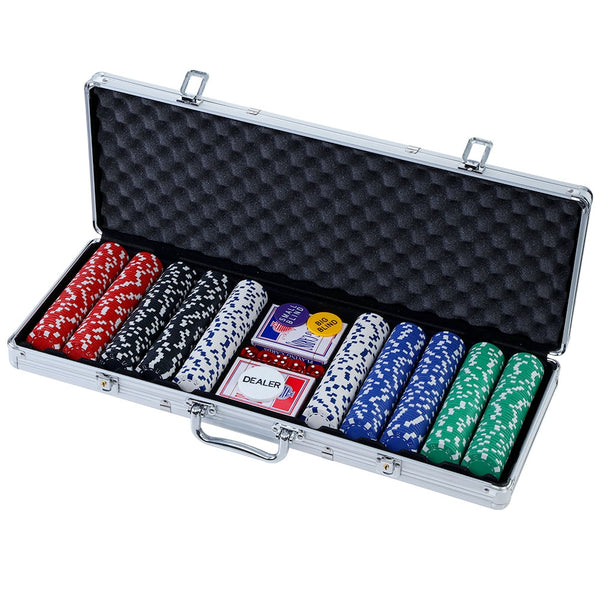 Poker Chip Set 500PC Chips TEXAS HOLD'EM