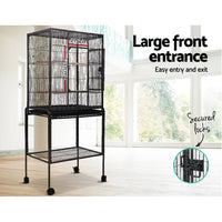 i.Pet Bird Cage Pet Cages Aviary 144CM Large Travel Stand Budgie Parrot Toys
