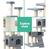 i.Pet 7 Level Cat Scratching Post - Grey