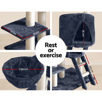 i.Pet 244cm Multi Level Cat Scratching Post Grey | Australian Variety Store